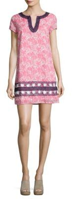 Vineyard Vines Allover Printed Embroidered Dress $148 thestylecure.com
