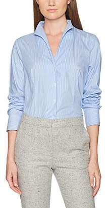 Jacques Britt Women's City-Bluse 1/1-Lang Blouse, Multicolor (Hellblau Weiß 12)