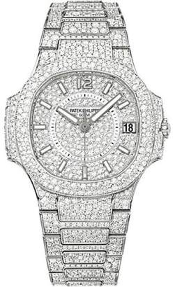 Patek Philippe 18K White Gold with Diamond 33.6mm Womens Watch