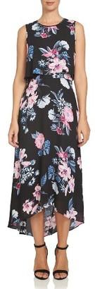 Women's Cece Flower Garden Chiffon Popover Dress $139 thestylecure.com
