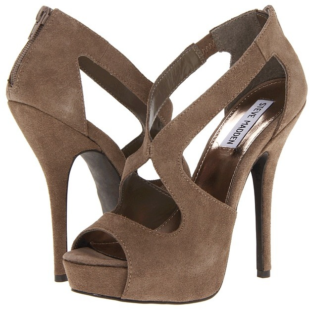 Steve Madden P-Glor (Taupe Suede) - Footwear