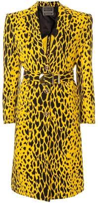 Versace animal print coat