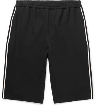 McQ Wide-Leg Striped Woven Shorts