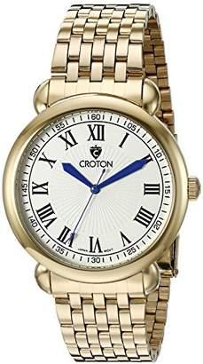 Croton Men's CN307532YLDW HERITAGE Analog Display Quartz Gold Watch