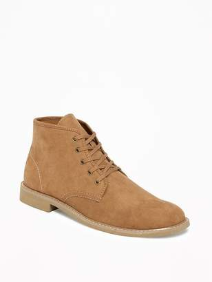 Old Navy Sueded Lace-Up Chukkas for Men
