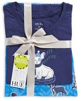 Hue Two-Piece Snuggy Dog Short-Sleeve Top Pyjama Set
