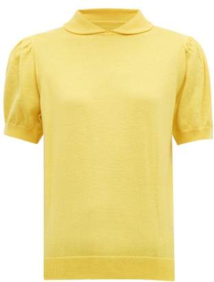 Shrimps Clement Peter Pan Collar Wool Sweater - Womens - Yellow