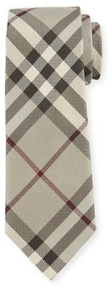 Burberry Textured Check Silk Tie, Taupe $190 thestylecure.com