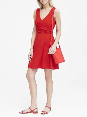 Banana Republic Petite Soft Ponte Twist-Front Dress