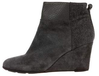 Tahari Suede Wedge Ankle Boots