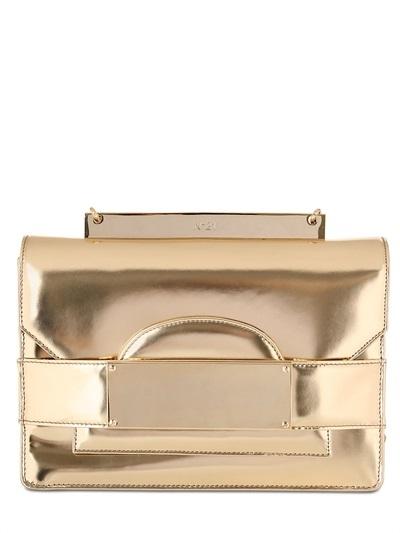 N°21 Laminated Leather Shoulder Bag