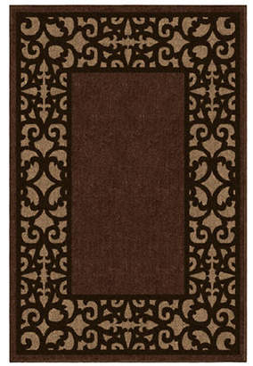 Home Outfitters 6x9 Keywest Border Outdoor Area Rug