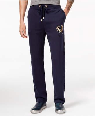 True Religion Men's Shatter Metallic Logo-Print Sweatpants