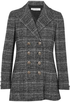 Philosophy di Lorenzo Serafini Double-breasted Checked Tweed Blazer - Gray