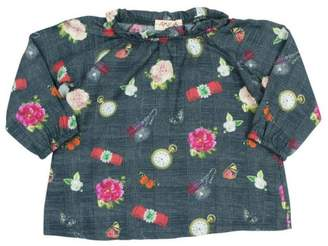 Amelia Printed Frilled Blouse