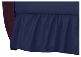 American Baby Company 100% Natural Cotton Percale Ruffled Crib Skirt, Navy, Soft Breathable, for Boys
