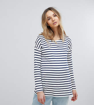 Isabella Oliver Relaxed Stripe Long Sleeve T-Shirt