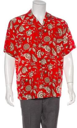 Gucci 2017 Silk Floral Print Shirt w/ Tags