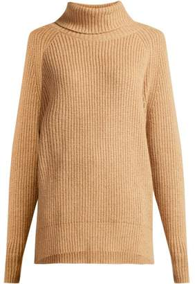 Nili Lotan Anitra Roll Neck Wool Blend Sweater - Womens - Camel