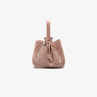 Alaia Pink Vienne Leather Bracelet Bag