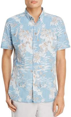 Barney Cools Tropical Holiday Short Sleeve Button-Down Shirt