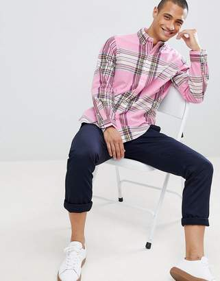Polo Ralph Lauren Madras Check Button-Down Shirt With Player Logo In Pink