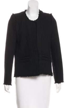 IRO Fringe-Trimmed Wool-Blend Jacket