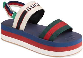 Gucci Bedlam Slingback Flatform Sandal