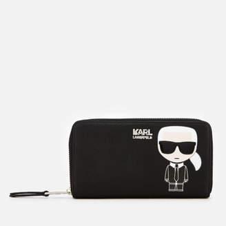 Karl Lagerfeld Women's K/Ikonik Zip Wallet - Black