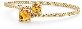 David Yurman Châtelaine Bypass Bracelet with Citrine and Diamonds in 18K Yellow Gold