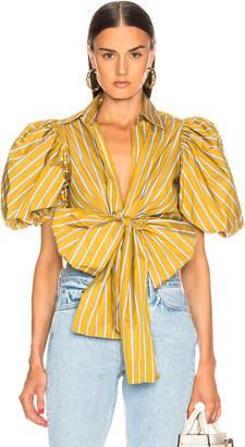 Silvia Tcherassi Primula Blouse in Lemon Stripes | FWRD