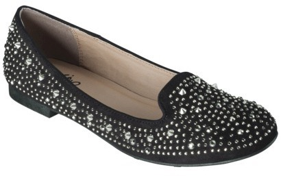 Mossimo Women's Venelina Jeweled Tuxedo Flat - Black