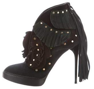 Burberry Fringe Embellished Booties