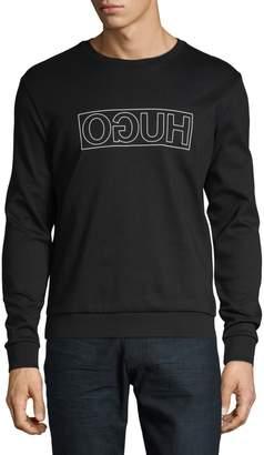 HUGO BOSS Mirrored Logo Pullover Sweatshirt