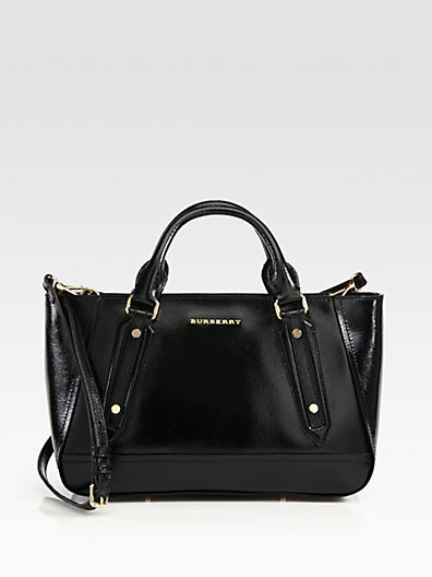 Burberry Somerford Patent Leather Tote