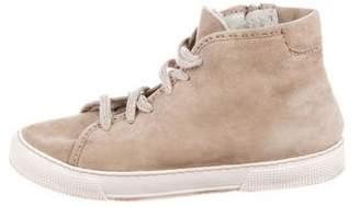 Henry Cuir Suede High-Top Sneakers