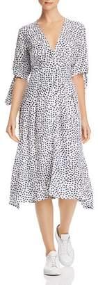 Faithfull The Brand Nina Tie-Sleeve Midi Dress
