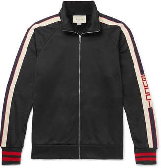 Gucci Webbing-Trimmed Tech-Jersey Jacket