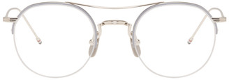 Thom Browne Silver TB-903 Glasses $550 thestylecure.com
