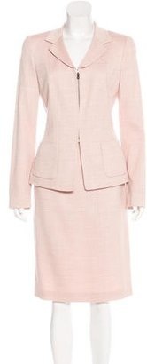Rena Lange Silk & Wool-Blend Skirt Suit $125 thestylecure.com