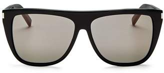 Saint Laurent Women's Flat Top Square Sunglasses, 59mm