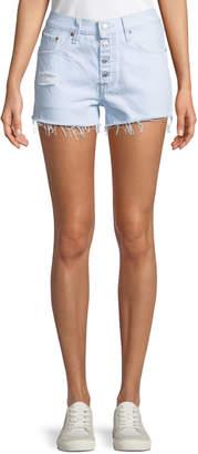 Levi's Premium 501 Better Love Denim Shorts w/ Cutoff Hem