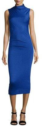 Rag & Bone Francis Sleeveless Wool Midi Dress, Bright Blue $395 thestylecure.com