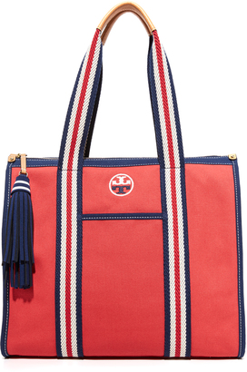 Tory Burch Preppy Canvas NS Tote $250 thestylecure.com