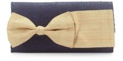 Eloise Bow Accented Woven Clutch $115 thestylecure.com