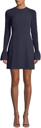 LIKELY Victoria Smocked Bell-Sleeve Cocktail Dress
