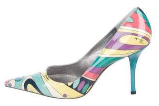 Emilio Pucci Printed Leather Pumps