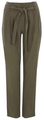 Wallis Petite Khaki Tie Belted Trouser