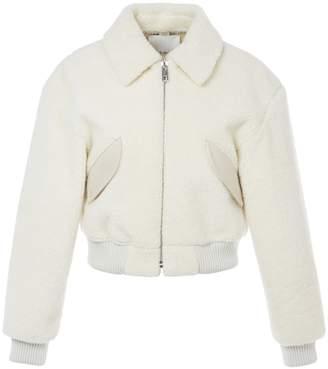 Tibi Faux Shearling Gus Cropped Jacket