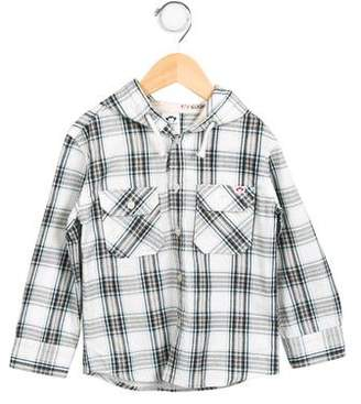 Appaman Fine Tailoring Boys' Hooded Button-Up Shirt w/ Tags